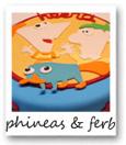 phineas en ferb taart