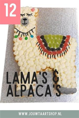 12 voorbeelden van lama taarten