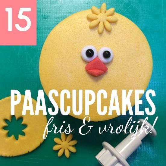 15 voorbeelden simpele paascupcakes