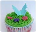 vlinder cupcake
