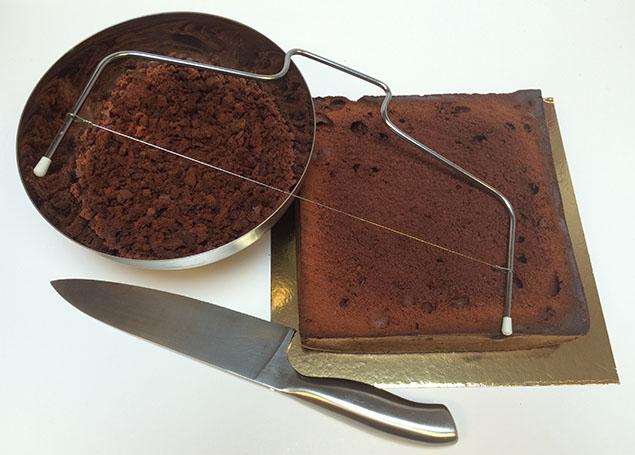 chocoladecake en kruimels