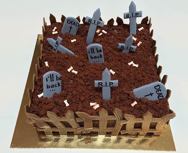 Halloween taart klaar