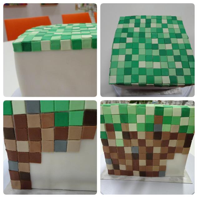 Minecraft taart maken
