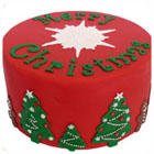Merry christmas taart