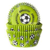 Voetbal (goal!) groen - baking cups (50 st), fig. 1