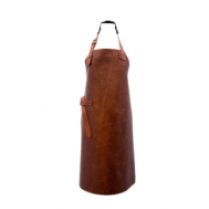Luxe leren schort cognac - Homeandkitchensupply, fig. 1
