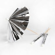 Parasol prikkers Zilver set/24 - Meri Meri, fig. 1