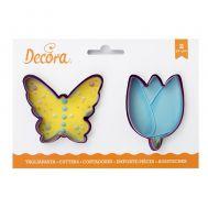 Vlinder en tulp uitstekers set/2 - Decora, fig. 1