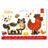 Kip & koe uitsteker set/2 - Decora, fig. 1
