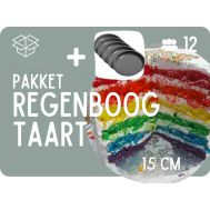 Basispakket Regenboogtaart + Ronde 15cm bakvormen, fig. 2