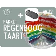 Basispakket Regenboogtaart + Ronde 20cm bakvormen, fig. 1