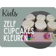 'Zelf kleuren op eetbaar papier' cupcakes pakket, fig. 1