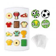 Chocolade mold voetbal incl. zakjes en leuke sluitsticker - Decora, fig. 2