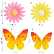 Ouwel bloemen en vlinders (8 st), fig. 1
