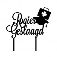 Taarttopper - Geslaagd dokter/verpleegkundige + voornaam, fig. 1