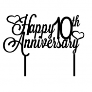Taarttopper - Happy + jaartal + anniversary, fig. 1
