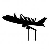 Taarttopper - Vliegtuig + naam, fig. 1