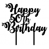 Taarttopper - Happy + jaartal + birthday, fig. 1