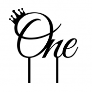 Taarttopper - One met kroontje, fig. 1