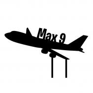 Taarttopper - Vliegtuig met naam + leeftijd, fig. 1