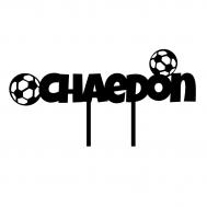Taarttopper - Voornaam met voetballen, fig. 2