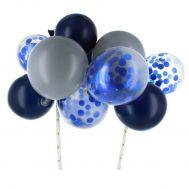 Cake ballonnen blauw & zilver, fig. 1