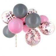 Cake ballonnen roze & zilver, fig. 1