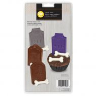 Chocolade mold halloween grafsteen & botjes - Wilton, fig. 1
