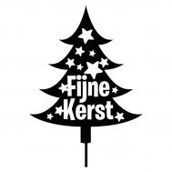 Taarttopper - Kerstboom fijne kerst met sterren, fig. 2