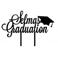 Taarttopper - graduation met hoedje + voornaam, fig. 1