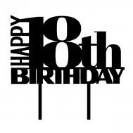 Taarttopper - Happy + leeftijd + birthday klassiek, fig. 1