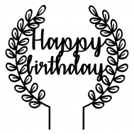 Taarttopper - Krans happy birthday, fig. 1