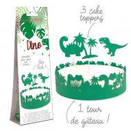 Papieren Taartdecoratie Dino set/4 - Scrapcooking, fig. 1
