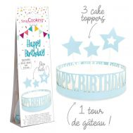Papieren taartdecoratie happy birthday set/4 - Scrapcooking, fig. 2