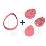 Paasei uitstekers set met 3 stempels - 3D geprint, fig. 2