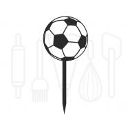Cupcakeprikker - Voetbal 12 stuks, fig. 1