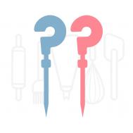 Cupcakeprikker - Gender reveal vraagteken 12 stuks, fig. 1
