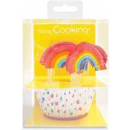 Regenboog - Baking cups met prikkers (24 st), fig. 1