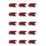 Eetbare print - 15 rondjes 5 cm - AZ logo, fig. 2