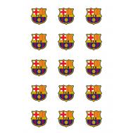 Eetbare print - 15 rondjes 5 cm - Barcelona logo, fig. 2