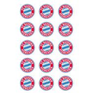 Eetbare print - 15 rondjes 5 cm - Bayern Munchen logo, fig. 2