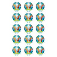 Eetbare print - 15 rondjes 5 cm - EK 2021 logo, fig. 2