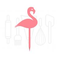 Cupcakeprikker - Flamingo 12 stuks, fig. 2