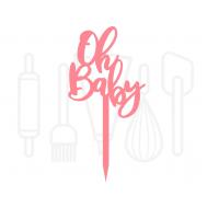 Cupcakeprikker - Oh baby 12 stuks, fig. 2