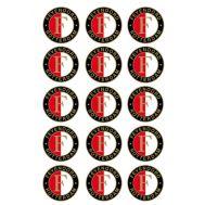 Eetbare print - 15 rondjes 5 cm - Feyenoord logo, fig. 2