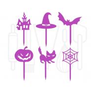 Cupcakeprikker - Halloween 12 stuks, fig. 2