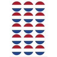 Eetbare print - 15 rondjes 5 cm - Nederlandse vlag, fig. 2