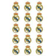 Eetbare print - 15 rondjes 5 cm - Real Madrid logo, fig. 1