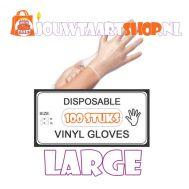 Vinyl handschoenen 100 stuks - L, fig. 1