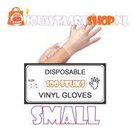 Vinyl handschoenen 100 st - maat S, fig. 1